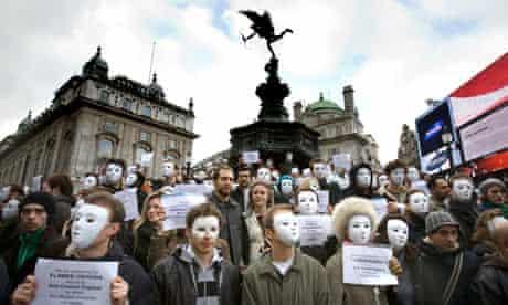 Theatre protest