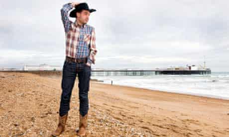 Alexis Petridis on Brighton beach.