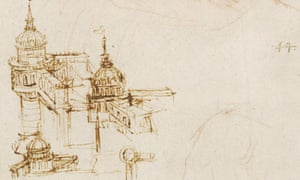 Leonardo da Vinci: Sketch of a Youth; Fortifications, about 1493