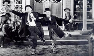 Stan Laurel and Oliver Hardy in 1937's Way Out West