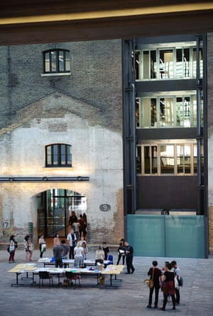 The Central Saint Martins library housed in the old granary