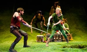 James McArdle and Iris Roberts in the RSC's The Heart of Robin Hood