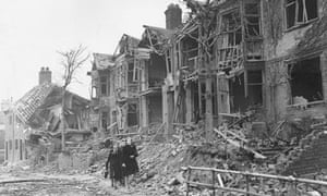 Bomb damage, Coventry, 1941