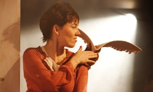 Cinderella at the Tobacco Factory: tomboyish Lisa Kerr with a paper bird on her shoulder