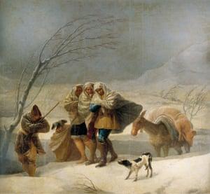 Francisco de Goya's The Snowstorm, or La Nevada (1786)