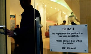 Behzti is cancelled at Birmingham Rep theatre