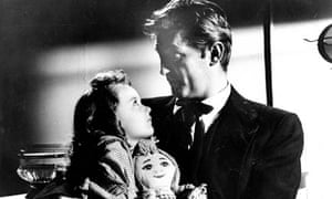 Sally Jane Bruce and Robert Mitchum in The Night of the Hunter (1995)