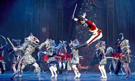 The Mouse King faces the Nutcracker in English National Ballet's production at the Coliseum, London.