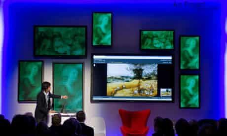 Amit Sood, head of the Google Art Project, uses an image of Bruegel's The Harvesters