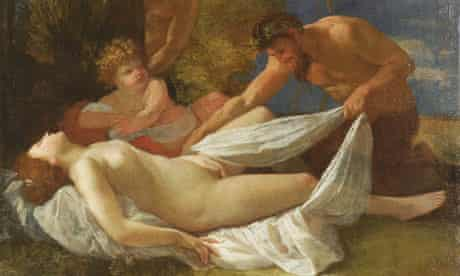 Nicolas Poussin's Nymph with Satyrs