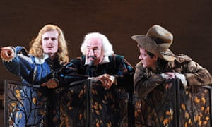 Charles Edwards, Simon Callow and Samuel James in Twelfth Night