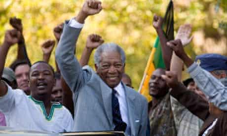 Morgan Freeman as Nelson Mandela in 2009's Invictus