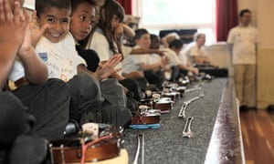 Lambeth pupils on the Bridge School Project