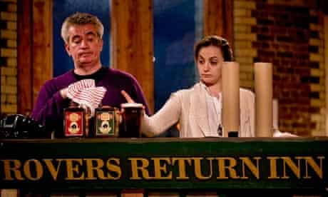 PeterTemple as Bet Lynch and Lucy Thackery as Annie Walker in Corrie!