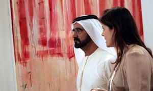 Sheikh Mohammed Bin Rashid al-Maktoum at opening of Art Dubai 2011