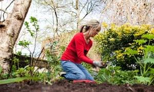 Julie Myerson in her garden