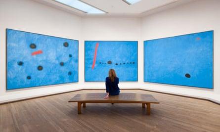 Joan Miro, Blue I-II-III 1961, Tate Modern
