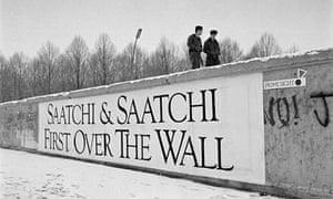 Melanie Friend's shot of a Saatchi & Saatchi banner on the Berlin wall
