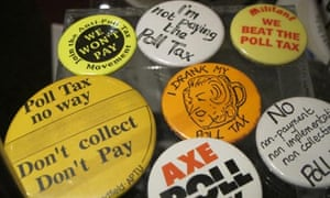 Political badges from the 1980s at the People's History Museum, Manchester