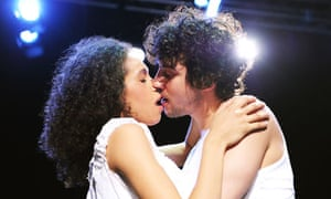 Vinette Robinson and Jack Gordon in Philip Ridley's Tender Napalm at London's Southwark Playhouse.