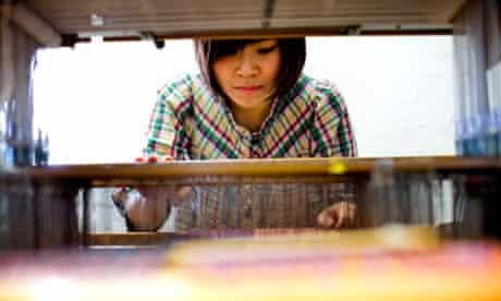 Chelsea textiles student Ann Ngamdamronk