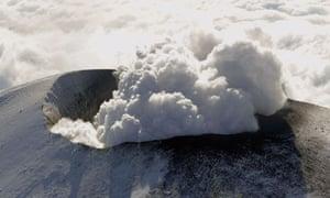A volcano