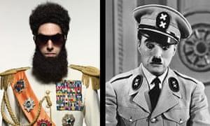 Sacha Baron Cohen and Charlie Chaplin comp