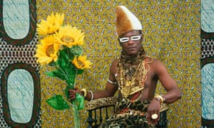 Samuel Fosso's self-portrait as an African chief