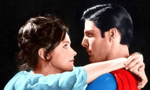 Match made in the heavens ... Margot Kidder and Christopher Reeve in the 1978 Superman film