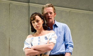 Kristin Scott Thomas and Douglas Henshall in Betrayal at the Comedy theatre