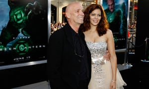 Director Martin Campbell with his wife, Sol Romero, at the LA premiere of The Green Lantern.