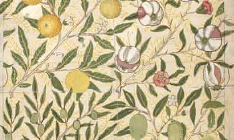 William Morris wallpaper, V&A, The Cult of Beauty