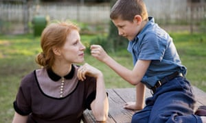 Jessica Chastain and Tye Sheridan in The Tree of Life, 2011