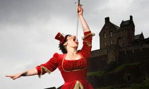 Cabaret star Miss Behave performs at Edinburgh festival fringe 2010