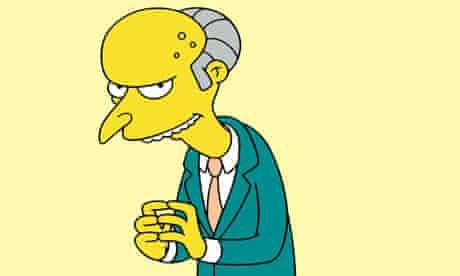 Charles Montgomery Burns, cartoon villain of The Simpsons
