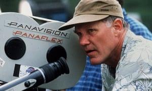 Director Joe Johnston working on the set of Jurassic Park III