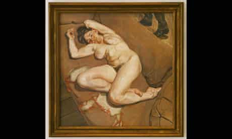 Naked Portrait with Reflection by Lucian Freud