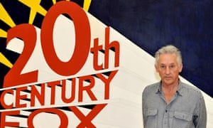 US artist Ed Ruscha in front of his painting Large Trademark with Eight Spotlights (1962)