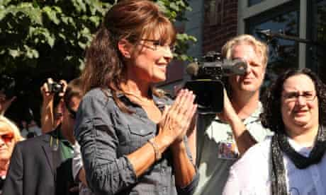 Sarah Palin at the premiere of The Undefeated in Pella, Iowa