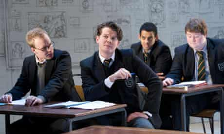 Rob Delaney, Kyle Redmond-Jones, Tom Reed and Christopher Keegan in The History Boys