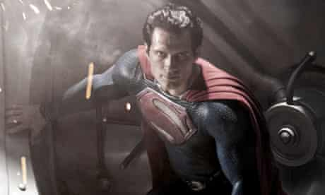 Henry Cavill as Superman in forthcoming Warner Bros film Man of Steel