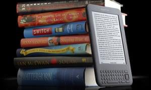 Hardbacks and ebook reader Kindle