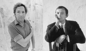 Robert Rauschenberg and Cy Twombly (right)
