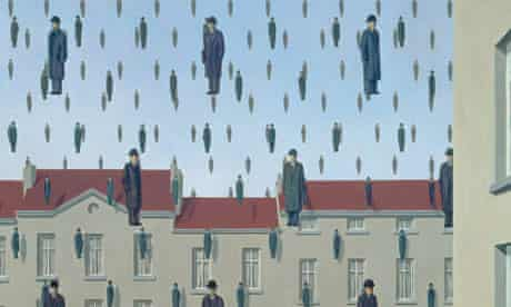 Golconde by Rene Magritte