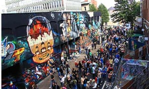 Graffiti, such as Bristol's street-art project See No Evil, has gone mainstream