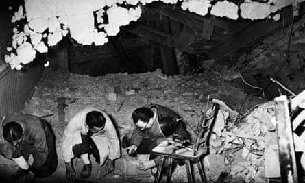 Allied Experts Examine Hitler's Bunker
