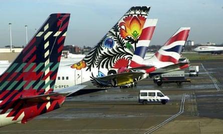 John Sorrell's tail fin designs for British Airways
