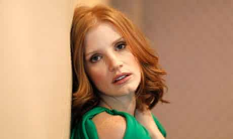 """Chastain, who stars in the movie """"The Tree of Life"""", poses for a portrait in Los Angeles"""