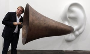 A visitor at the Frieze art fair