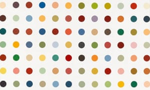 Addictive … detail of Damien Hirst's Methoxyverapamil (1991).